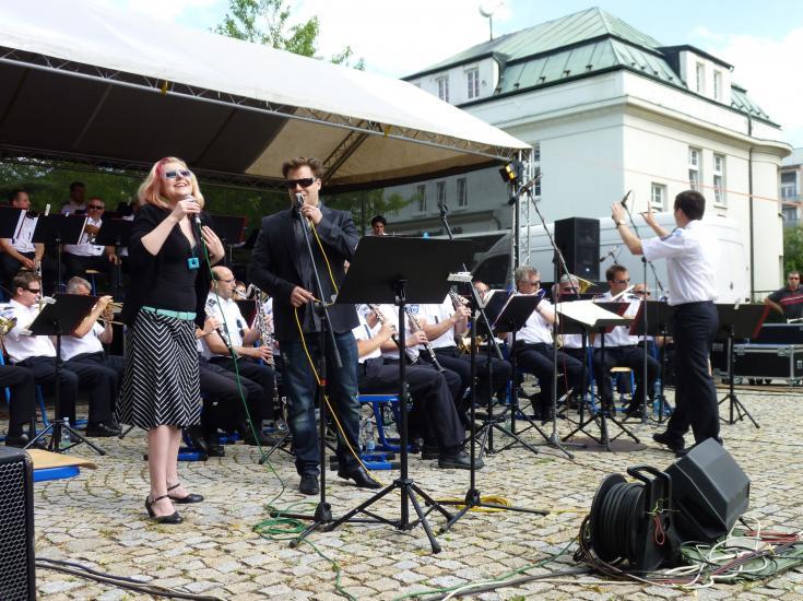 Hlavní zpěváci Hudby hradní stráže