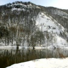 Hladká skála vzimě: Foto Vladimír Dousek